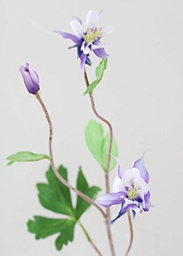 "Sullivans (SUL-) Purple Columbine Artificial Flower Spray - 26.5"" Tall"