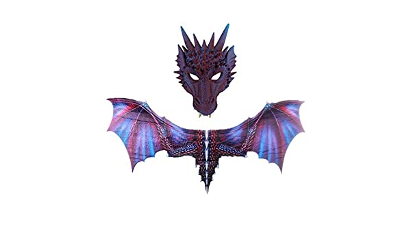 Disfraz de ala de dragón de Halloween de Fescra con máscara de ...