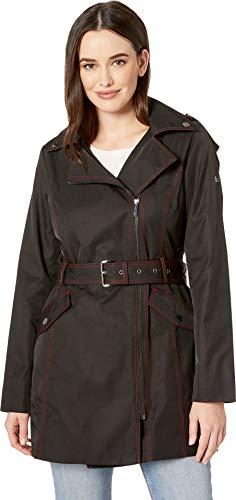 Michael Michael Kors Women's Asymmetric Belted Trench M724007M Black -