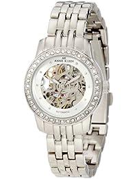 Anne Klein 109137SVSV Reloj automático con cristales Swarovski acentuados en tono plateado para mujer