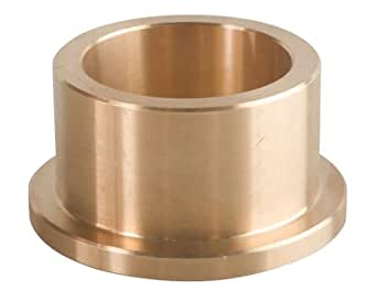 Pack of 5 SAE 660 Cast Bronze C93200 20 mm Bore x 24 mm OD x 16 mm Length x 28 mm Flange OD x 2 mm Flange Thick Bunting Bearings CFM020024016 Sleeve Bearings Flanged
