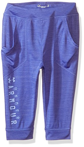 Under Armour Little Girls' Favorite Fleece Capri Pant, Constellation Purple, 6