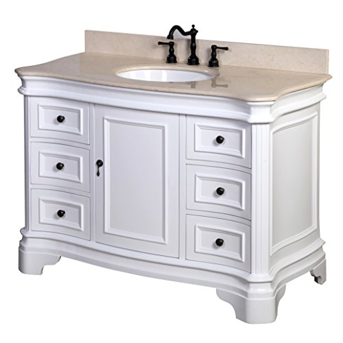 Federation Vanities For Bathrooms: Kitchen Bath Collection KBC-A48WTMFL Katherine Bathroom