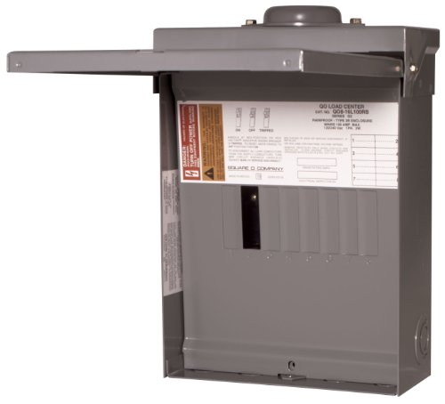 - Square D by Schneider Electric QO816L100RBCP QO 100 Amp 8-Space 16-Circuit Main Lug Outdoor Load Center with Cover