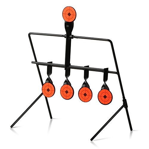 Yaheetech 5 Targets Metal Self Resetting Target Set Spinning Air Gun Rifle Shooting Outdoor W/10 (22 Rimfire Resetting Target)