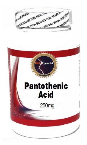 Pantothenic Acid 250mg 200 Capsules # BioPower Nutrition