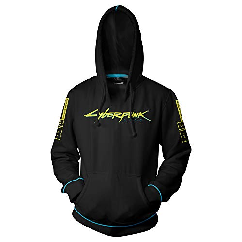 JINX Cyberpunk 2077 Laser Logo Men's Pullover Hoodie