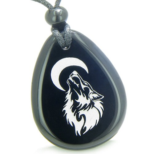 Amulet Brave and Protection Howling Wolf Moon...