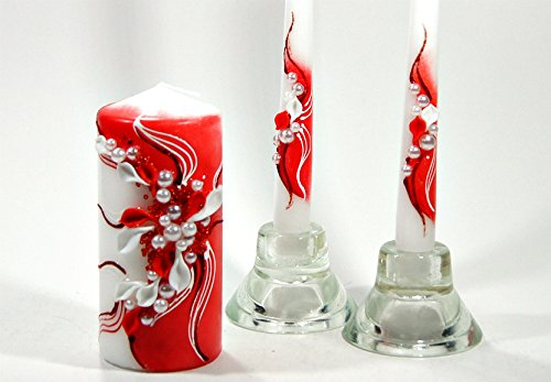 Decorate Unity Candles - Magik Life Unity candle set for wedding - Wedding décor &  Wedding accessories - Candle sets - 6 Inch Pillar and 2 10 Inch Tapers -  Best Unity candle