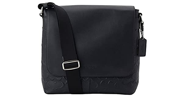 c4d6b63780 Amazon.com  Coach Charles Small Messenger In Signature Crossgrain Leather  Midnight Blue F72220  Shoes