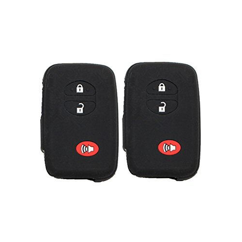 Pack of 2 Black Silicone Rubber Remote Key Cover Holder Key Fob Skin Cover for Toyota 4runner Venza Avalon Land Cruiser - Rubber Silicone Remote