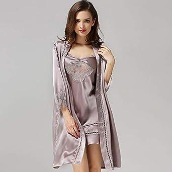 liangchaonan Sexy Pajamas Seda Y Satén Señoras Robe Traje ...