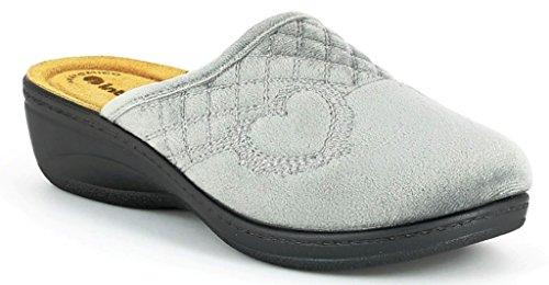 Inblu pantofole ciabatte invernali da donna art. LY-33 grigio