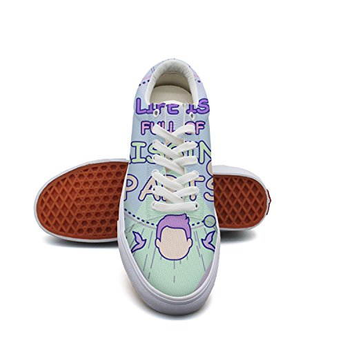 ELIBEZA Elizabebbgsd Mens Canvas Sneaker Womens Canvas Shoes Lace Up Sneakers Life Is Full Of Missing Parts Skate Shoes
