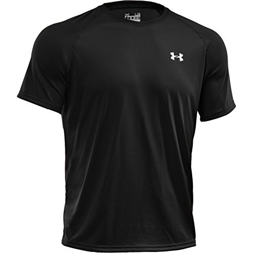 - Under Armour Tech T-Shirt - Men's Black/Black/Graphite, M