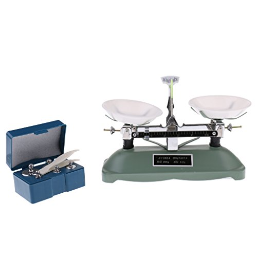 MonkeyJack 200 Gram Table Balance Scale with 5g, 10g, 20g, 50g,100g Weights Physics Teaching Tool Lab Supplies
