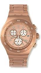 Swatch Men's YOG408G Rosalona Analog Display Quartz Rose Gold Watch
