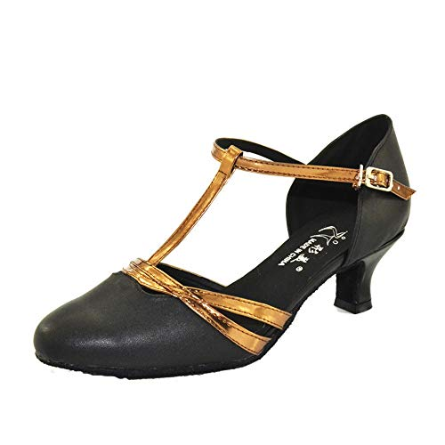 5cm Black5 Leather Heels Dancing Shoe Women's QXH Shop Dance High Latin Banquet Sandals Shoes qU4zOn7w