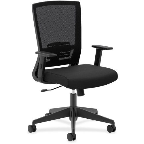 Basyx Furniture (Basyx by HON VL541 Mesh High-back Chair - Foam Black Seat - Black Back)