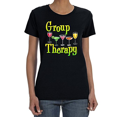 Women's GROUP THERAPY ASSORTED Black T-shirt