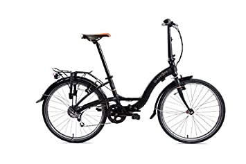 Dahon Briza D8-Bicicleta plegable, color negro mate, 8 V