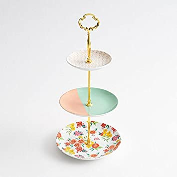 Paper Source 3 Tier Floral Stand - WNP  sc 1 st  Amazon.com : plate stand source - pezcame.com