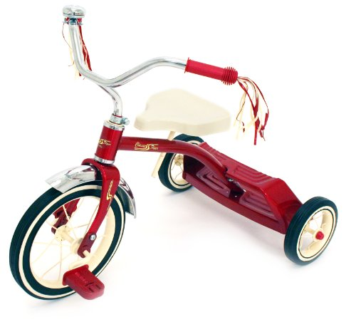 Kettler Classic Flyer by 12'' Retro Trike with Adjustable Seat: Candy Apple Red, Youth Ages 1.5 to 4 by Kettler