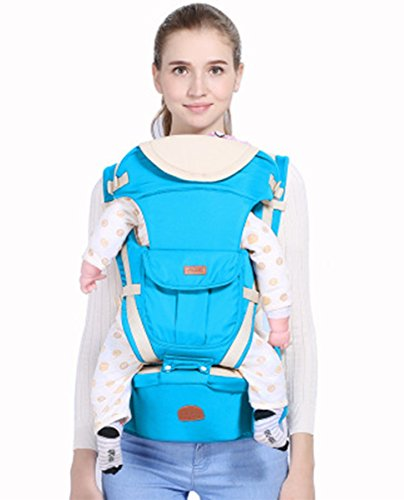 Oleg Neck Strap - Forvery Ergonomic Baby Carrier With Hip Seat All Season Suitable for Child of 3-48 Months One Size Fits All (Blue)