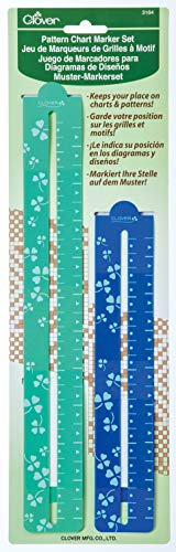Clover 3164 Pattern Chart Magnetic Gage Place Marker Set, 8-1/2-Inch and 11-3/4-Inch (Cross Stitch Charts)