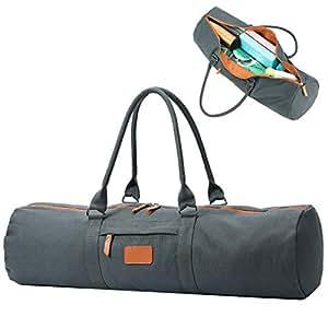 Amazon.com: YanHao - Bolsa de lona para esterilla de yoga ...