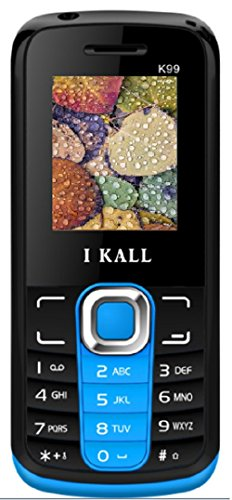 IKALL K99 Dual Sim Feature Mobile With Torch Light  Blue
