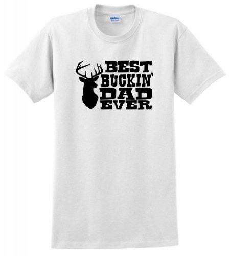 Best Buckin' Dad Ever T-Shirt 2XL - Marsh Ford White