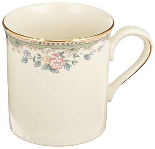 Lenox Spring Vista Gold Banded Ivory China Mug (Vista Dinnerware Fine Spring)