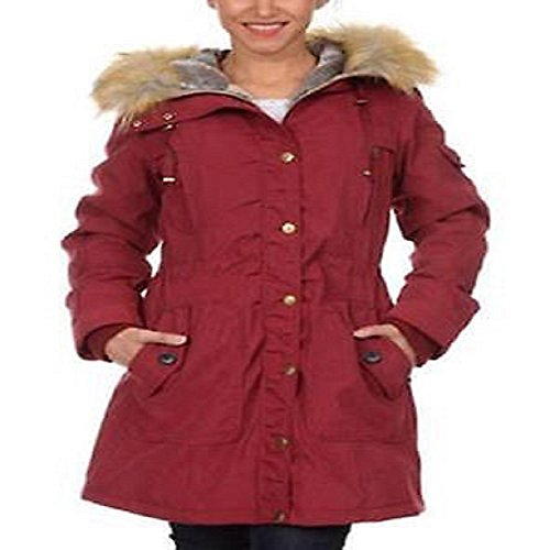 1 Madison Expedition Anorak Jacket with Hood for Women - Deep Garnet, XL