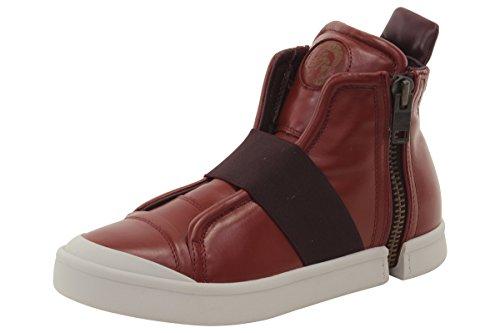 Sneaker Di Moda Da Uomo Diesel Zip-round S-nentish Strap Rossa
