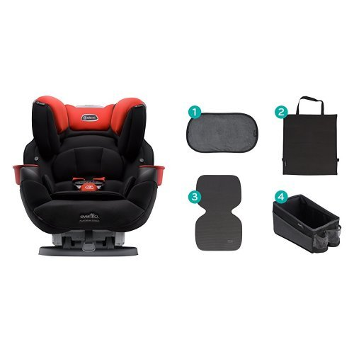 Evenflo SafeMax Platinum All-in-One Convertible Car Seat, Mason with Car Seat Accessory Kit