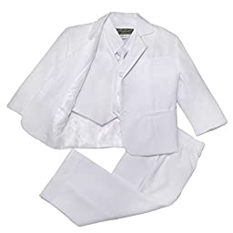 NancyAugust Classic Baby Boys Formal Suit S-XL in White-White-XL