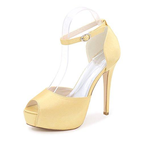 Qingchunhuangtang @ Vis Mond Schoenen Met Hoge Hakken Trouwschoenen Met Vrouwelijke Gouden