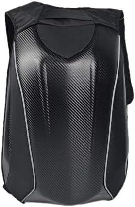 TeFuAnAn ハードシェルバッグ リュックサック バイクウエア レーシング ツーリング バックパック 旅行用 防水 耐衝撃性 炭繊維 摩耗性 大容量 30L 防塵/防水カバー付