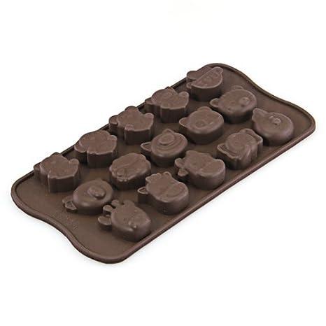 Compra Lyanther Molde de Molde de la Bandeja del Cubo de Hielo del jabón Dulce del Caramelo del Chocolate del Animal del silicón en Amazon.es