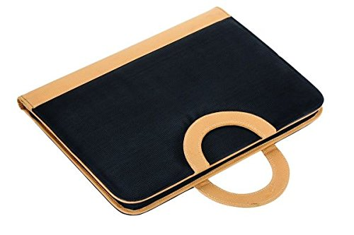 COI black and beige conference folder / document folder with foldable magnetic handles and writ