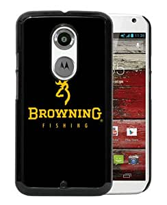 Motorola Moto X 2nd Generation Browning Logo Black Gold Black Screen Cover Case Custom and Popular Design