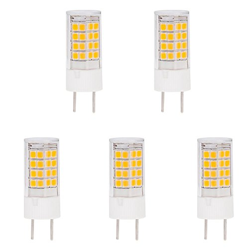 GY8.6 LED Halogen Replacement Bulb, AC100-140V,360 Beam angle,3.5W, 25-30W Equivalent, Warm White 3000K,2years warranty, factory direct sale. 5-Pack(Not - 140 360