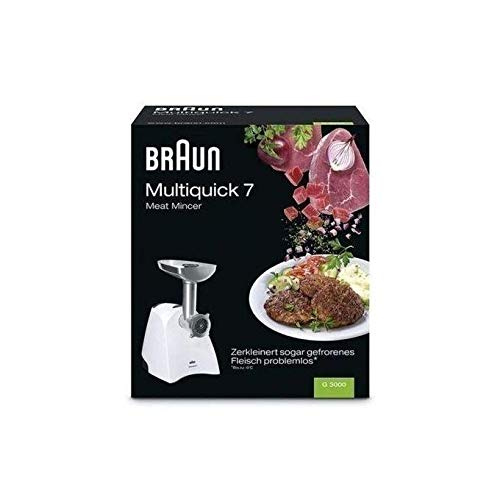 Braun Multiquick 7 G3000 Meat Mincer White 220V Will Not Work In USA