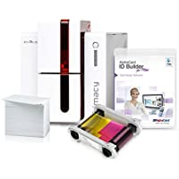 Evolis Primacy Id Card Printer System with ribbon, cards, and Alphacard ID Builder Basic Software (Mac)