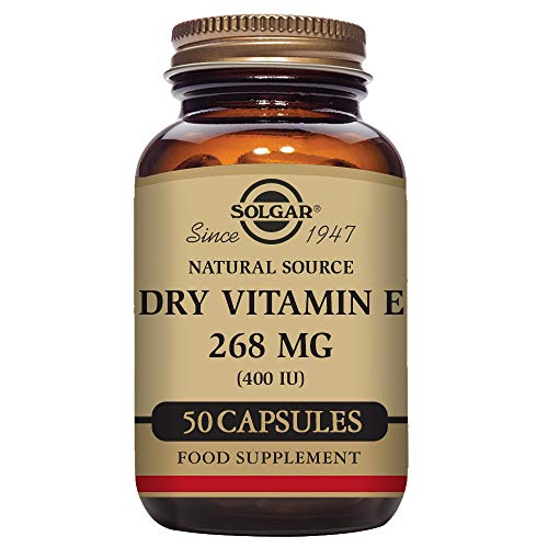 Cheap Solgar Dry Vitamin E 400 IU D-Alpha Tocopheryl Succinate Vegetable Capsules, 50 Count