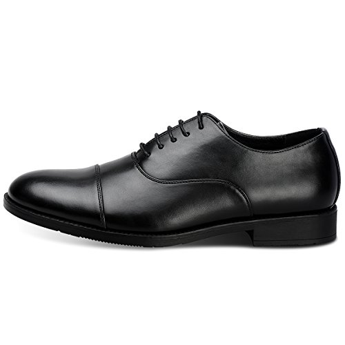 Men's Dress Shoes FormalLeather Oxfords Lace up Black 10.5 by GOLAIMAN (Image #2)