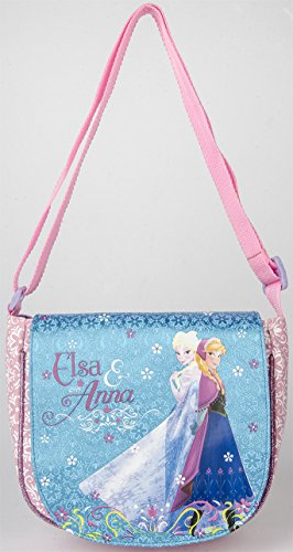 [Disney Frozen Deluxe Anna, Elsa Purse Pink / Blue Fashion (Blue)] (Iron Fist Costumes For Kids)