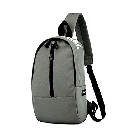 Cross Multipurpose Pouch Grey Canvas Bag Shoulder Defeng Chest Women and for Daypacks Sport Backpacks Lightweight body Men vx8a8Indw