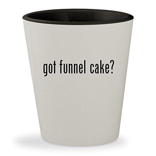 got funnel cake? - White Outer & Black Inner Ceramic 1.5oz Shot Glass Flag Dispenser Starter Kit